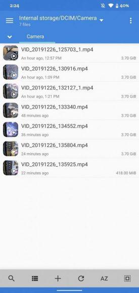 Límite de tamaño de grabación en el Google Pixel 4