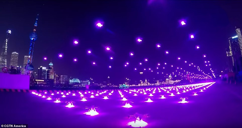 Espectáculo de drones en Shanghái
