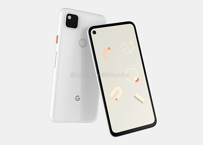 Google Pixel 4A - Parte frontal y trasera