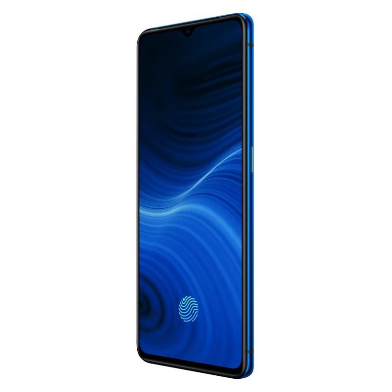 El Realme X2 Pro en azul brillante resulta muy atractivo.