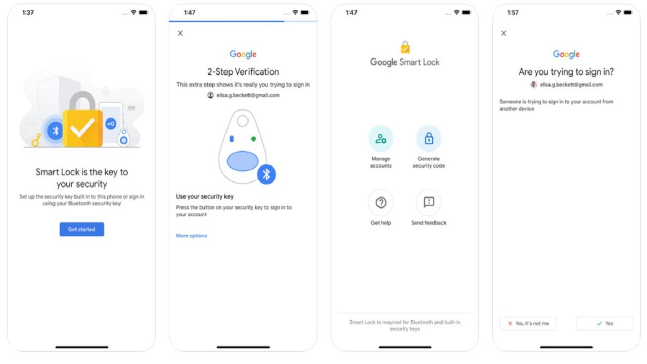 google smart lock en ios