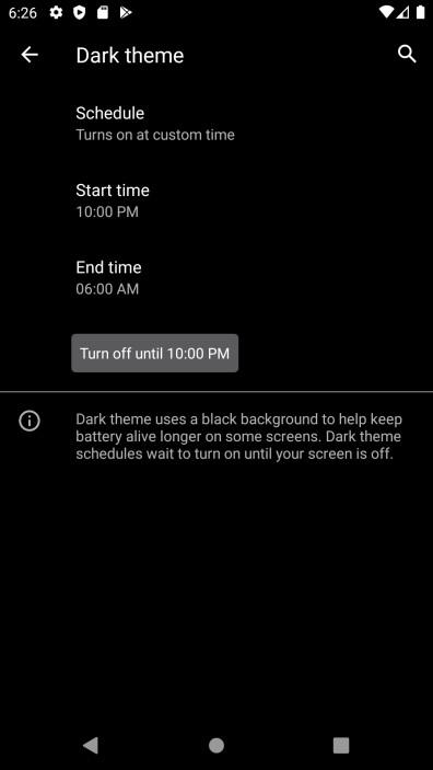 Beta de Android 11 - Modo Oscuro