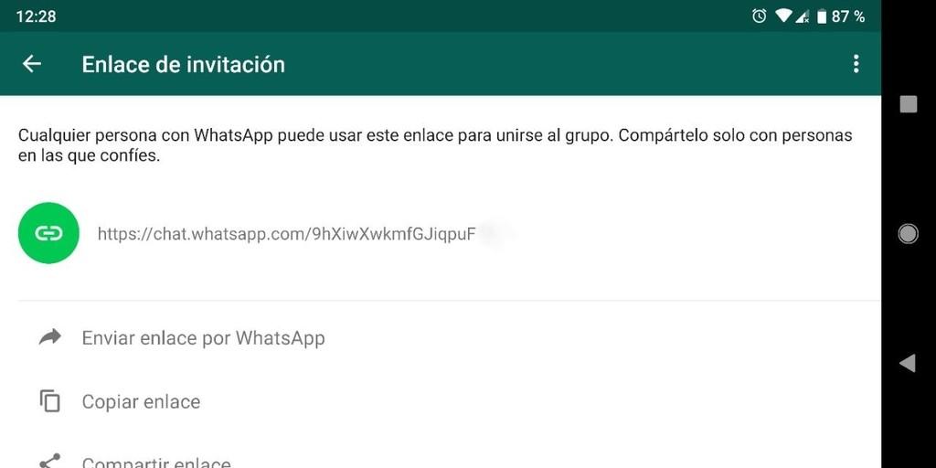 Enlaces de invitación de WhatsApp