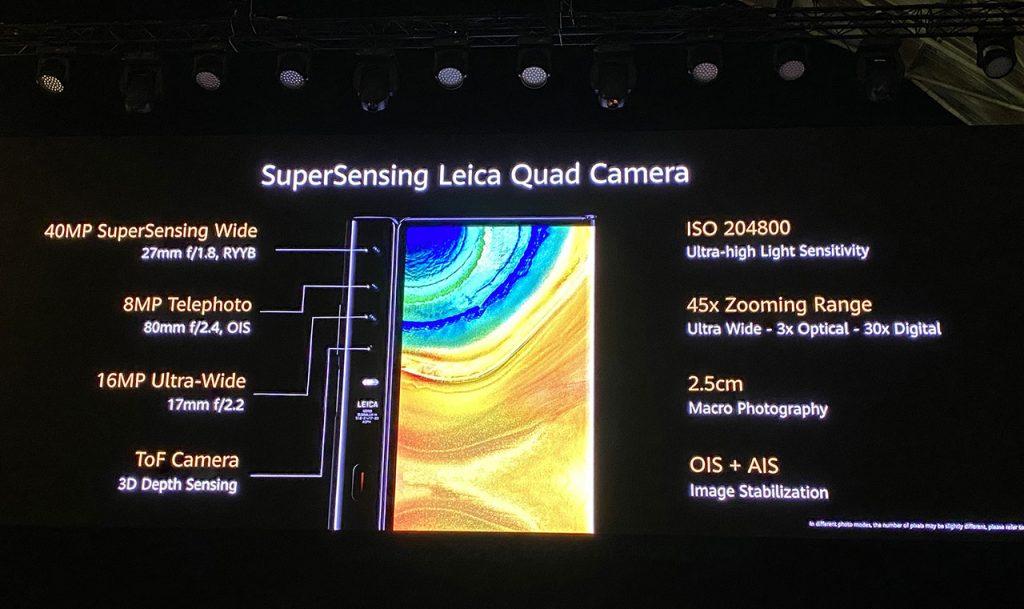 Huawei Mate Xs - Cámaras