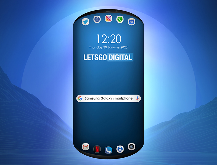 Samsung imagina un móvil redondeado con tres pantallas