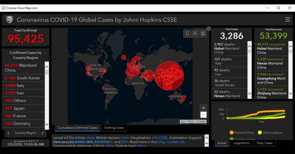 Coronamap, un malware para PC que pretende ser un mapa del Coronavirus