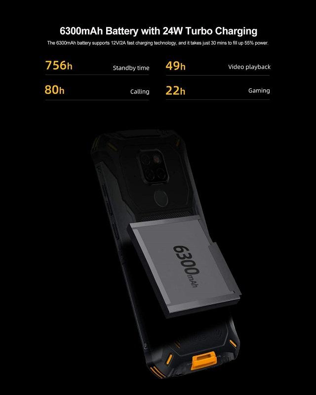 Doogee S68 Pro, batería