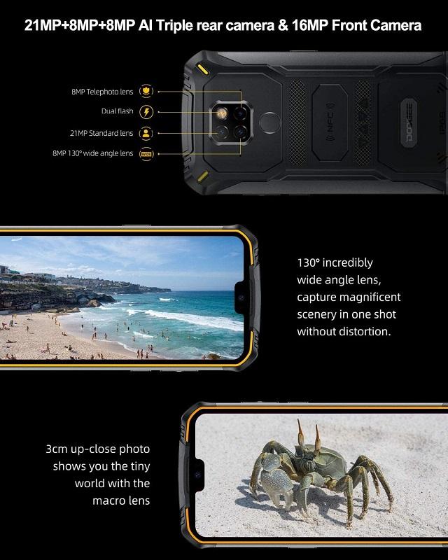 Doogee S68 Pro, triple sensor