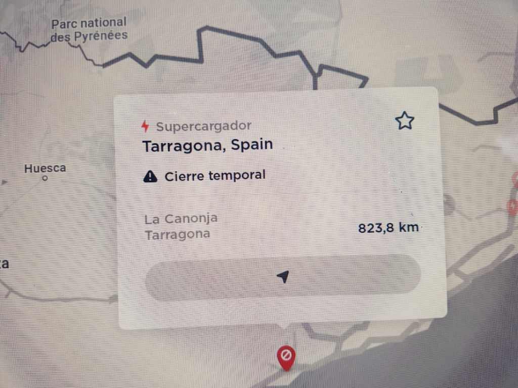 El Supercargador Tesla ubicado en Tarragona está cerrado