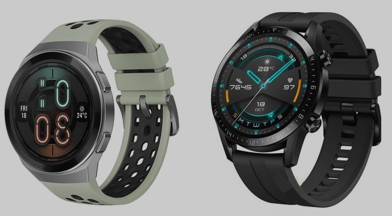 Huawei Watch GT2e (Izquierda) y Huawei Watch GT 2 (derecha)