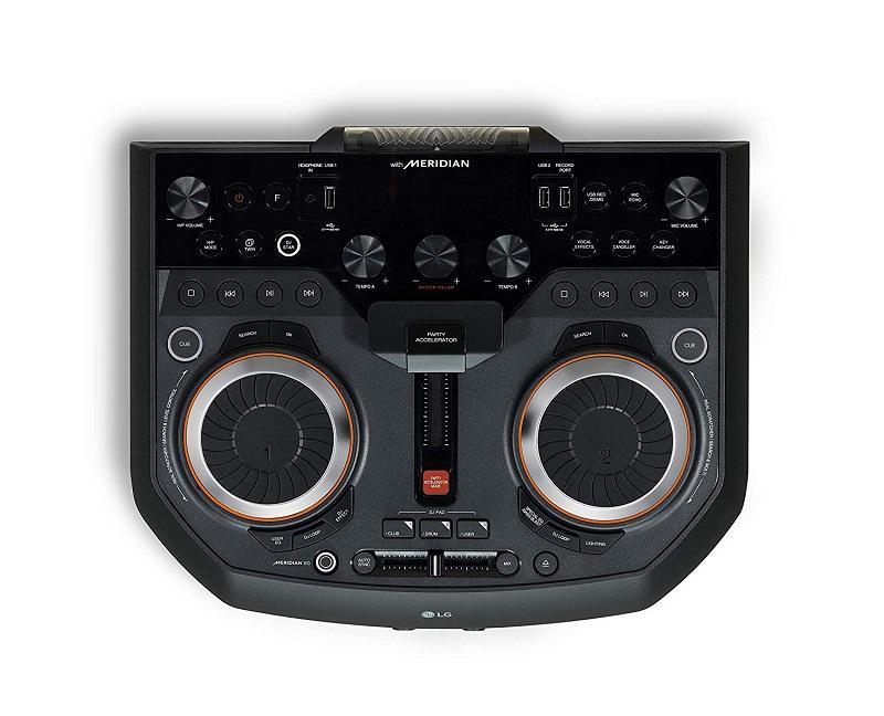 LG OL100, panel de control