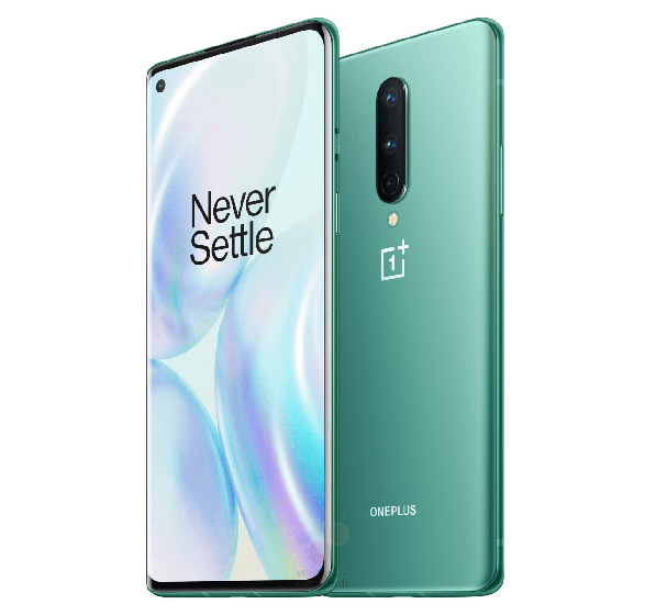 OnePlus 8 en color verde