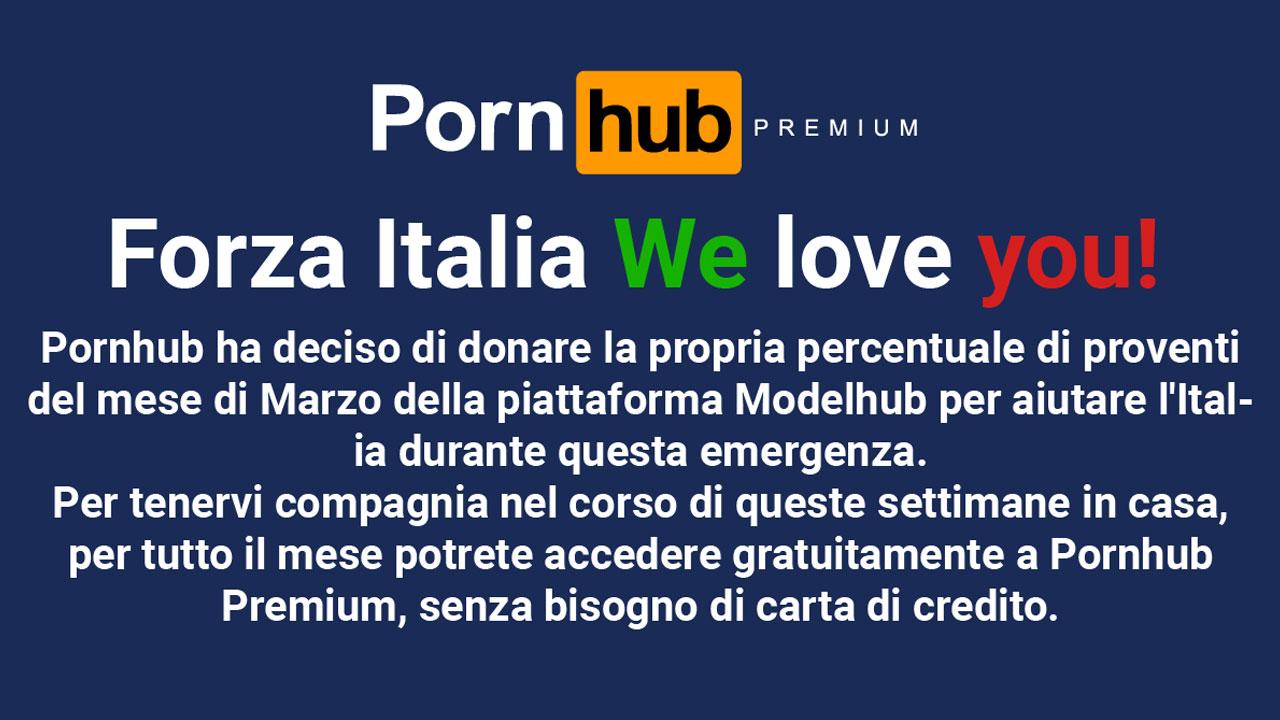 Pornhub ofrece acceso gratuito a Premium en Italia por el Coronavirus