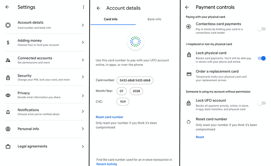 Google Card - Privacidad y seguridad