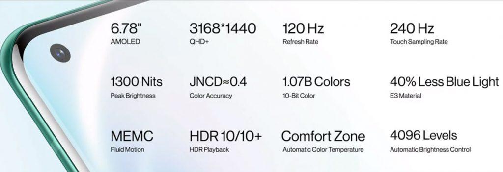 OnePlus 8 Pro - Pantalla