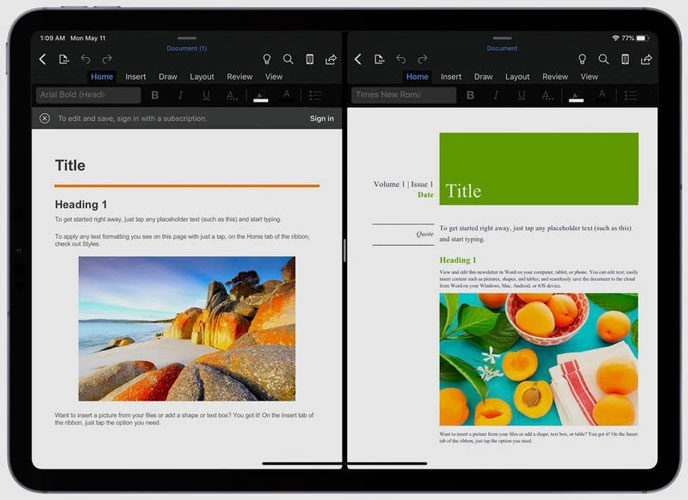 Cómo usar la vista dividida de Microsoft Office