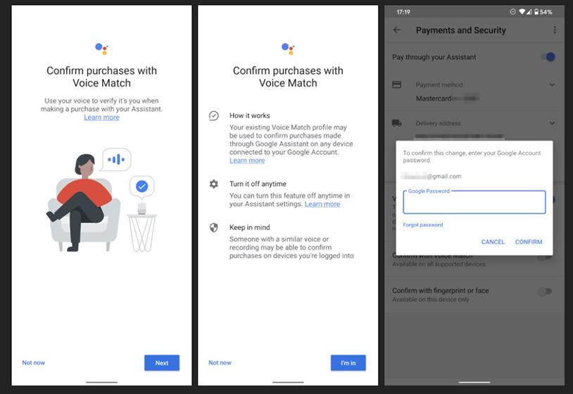 Google prueba confirmación por voz