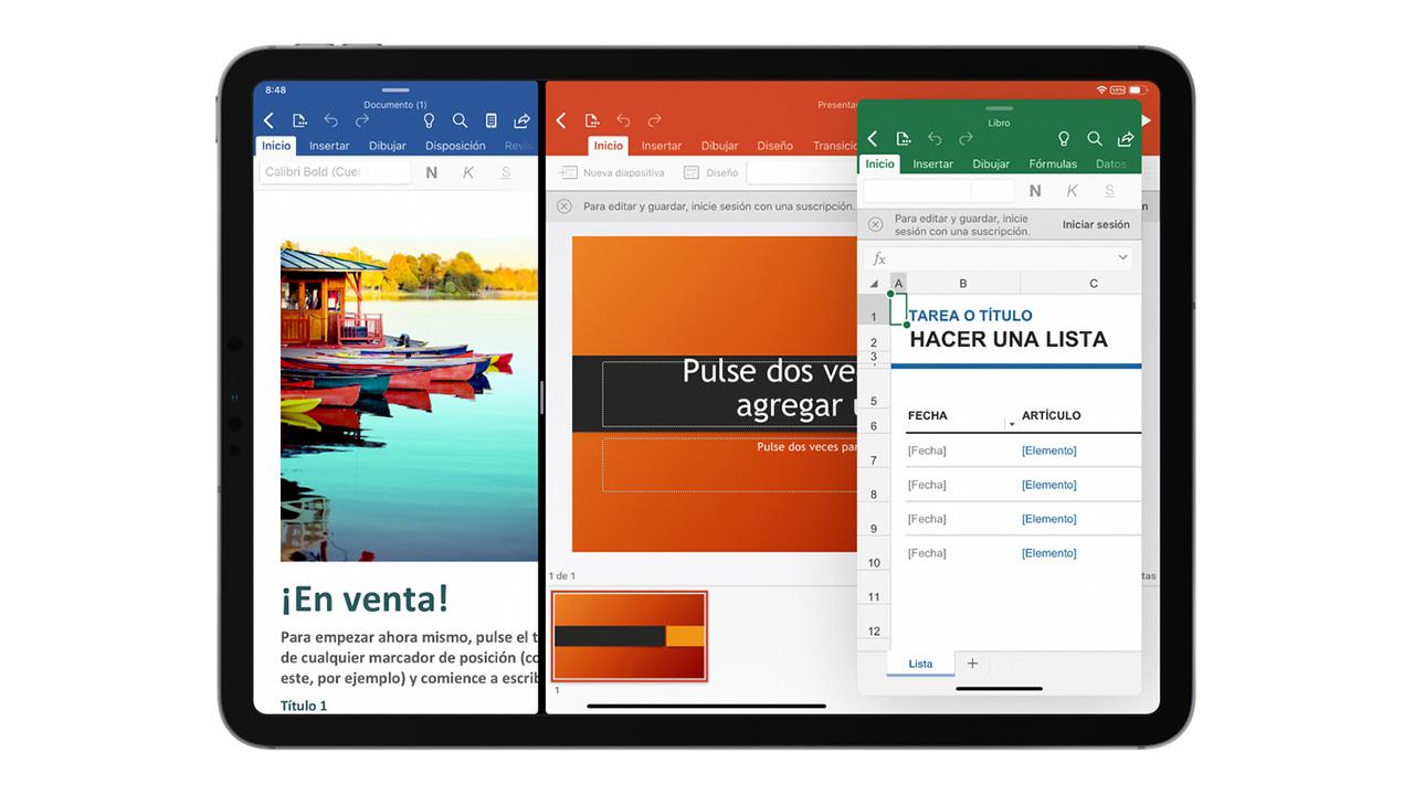 La función de pantalla dividida llega a Microsoft Office para iPadOS