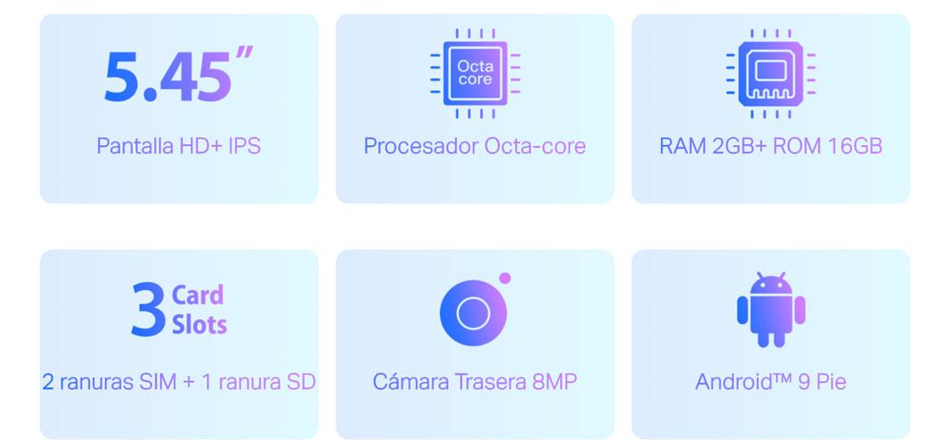 Neffos C7s - Hardware y características