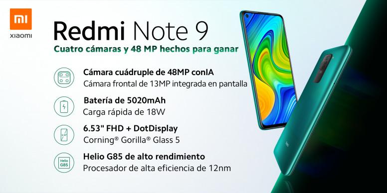 Redmi Note 9 - Hardware y características