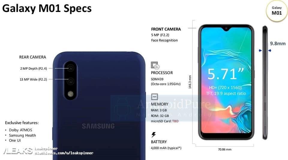 Samsung Galaxy M01, lo que sabemos hasta ahora