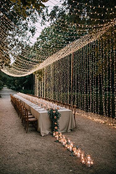 Decoración para bodas - Luces y velas