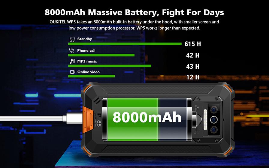 Oukitel WP5 - Batería