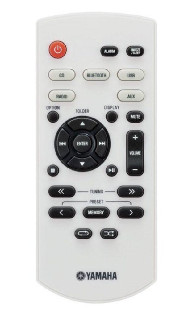 Yamaha MCR-B020 - Control remoto