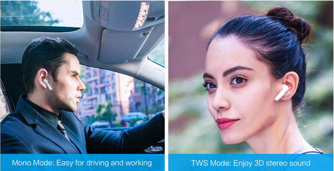 i9S TWS - Modo Mono y Estéreo