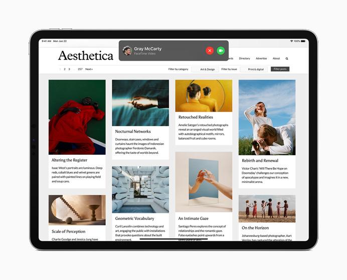 iPadOS 14 - Experiencia de aplicación mejorada