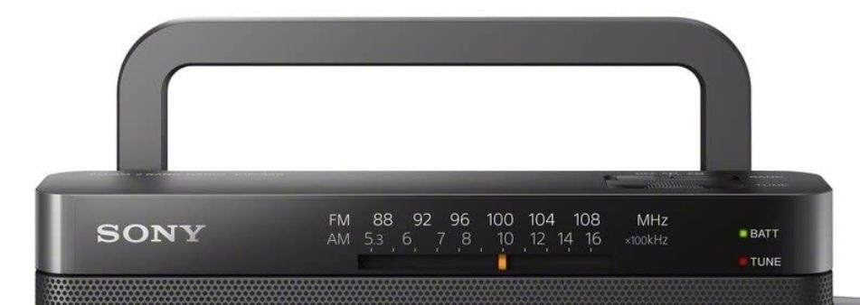 Sony ICF-306 - Asa para transporte conveniente