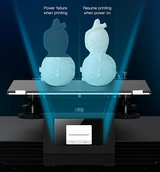 Creality Ender 6 - Recuperación de impresión