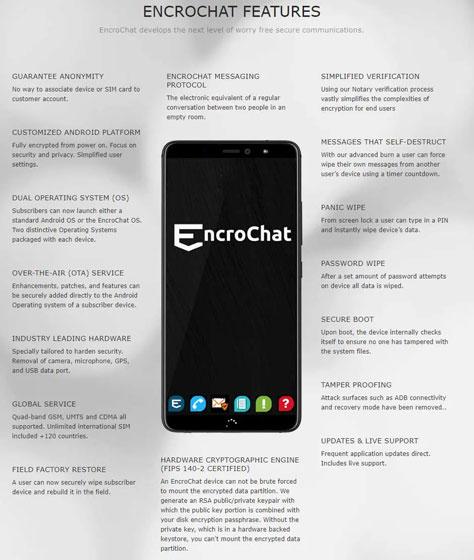 EncroChat - Funciones