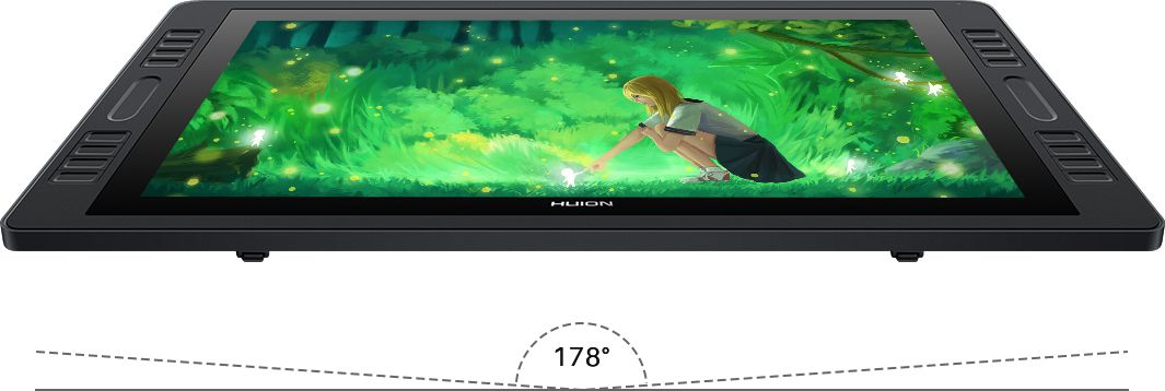 Huion Kamvas Pro 20 - Ángulos de visión