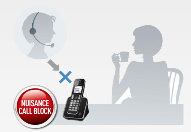 Panasonic KXTGD310 - Bloqueo de llamadas