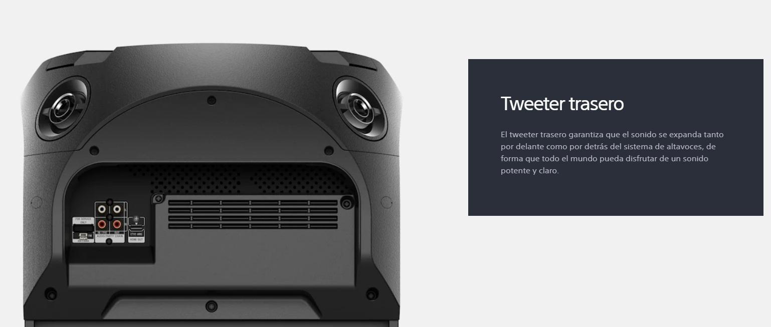 Sony MHC-V72D - Tweeter posterior
