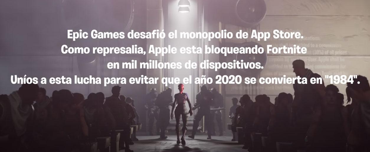 Epic Games desafía a Apple