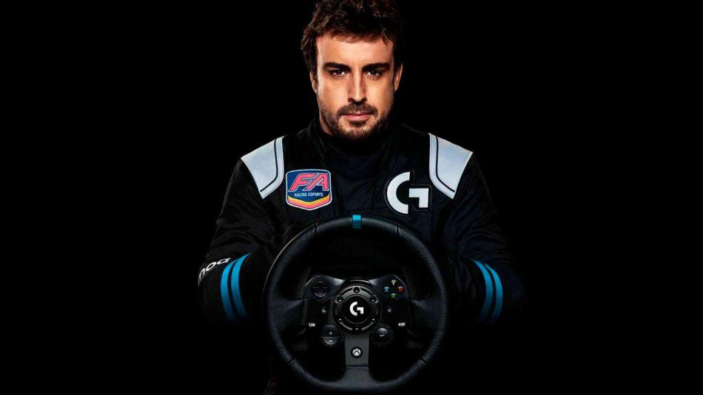 Fernando Alonso es el padrino de este volante de Logitech