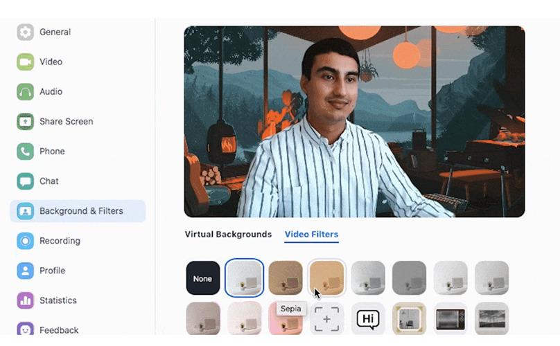 Nuevos filtros en Zoom 5.2