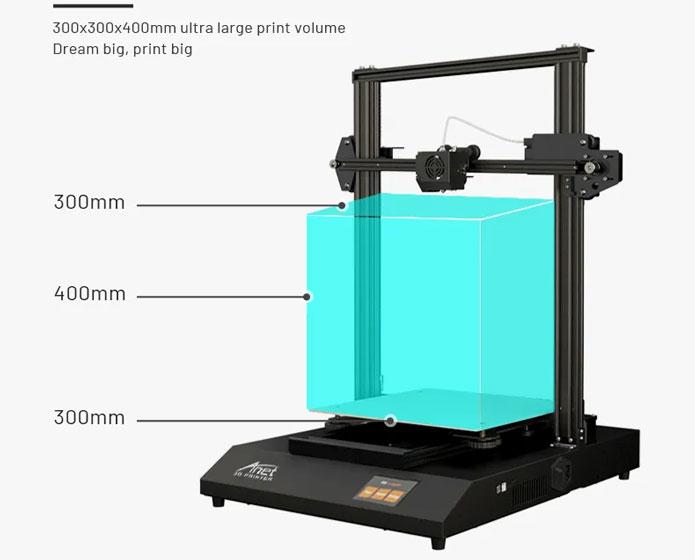 Anet ET5 Pro - Área de impresión