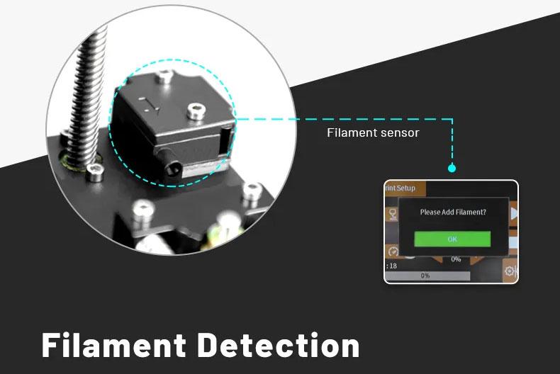 Anet ET5 Pro - Detección de filamento