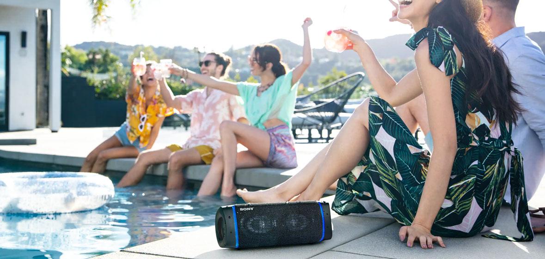 El Sony SRS-XB33B es a prueba de agua