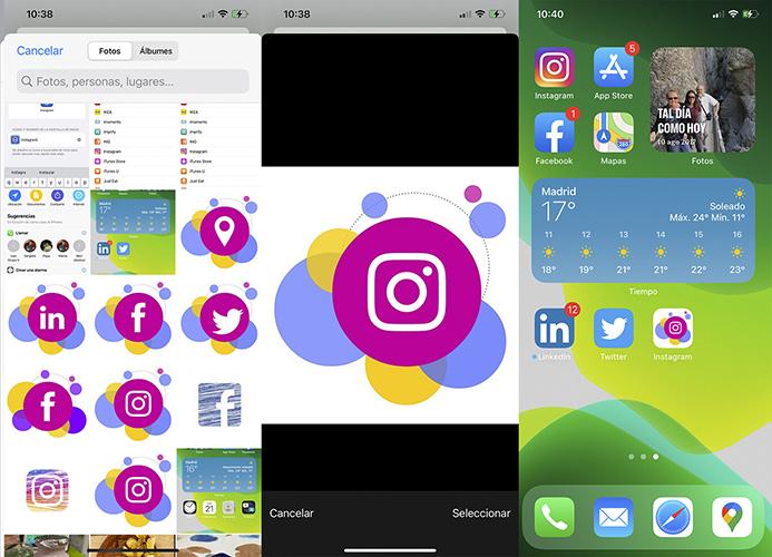 Personalizar iconos en iOS 14 - Imagen personalizada