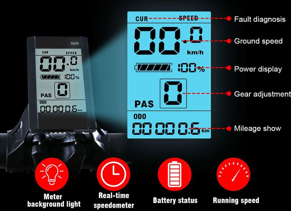 Samebike XWXL09 - Pantalla LCD