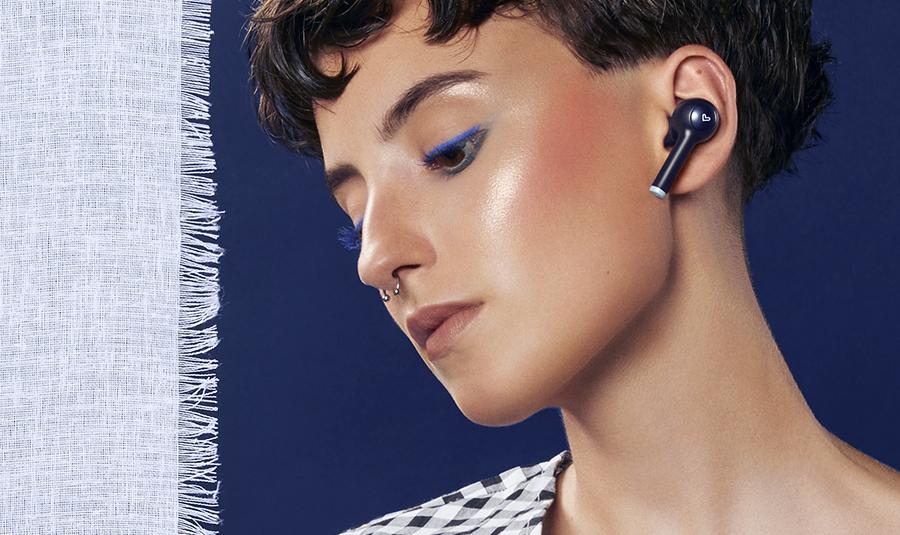 Earphones Style 7 True Wireless En color Azul Marino