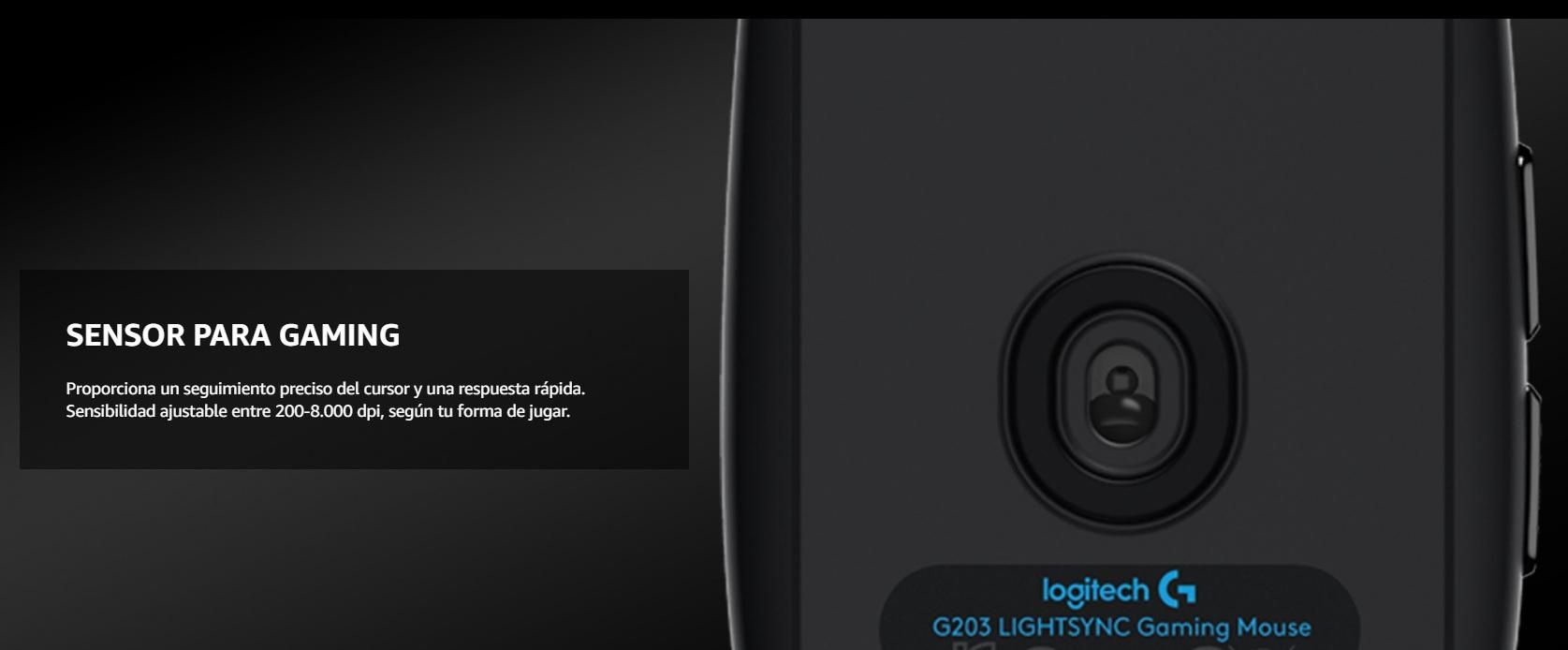 Logitech G203 - Sensor óptico