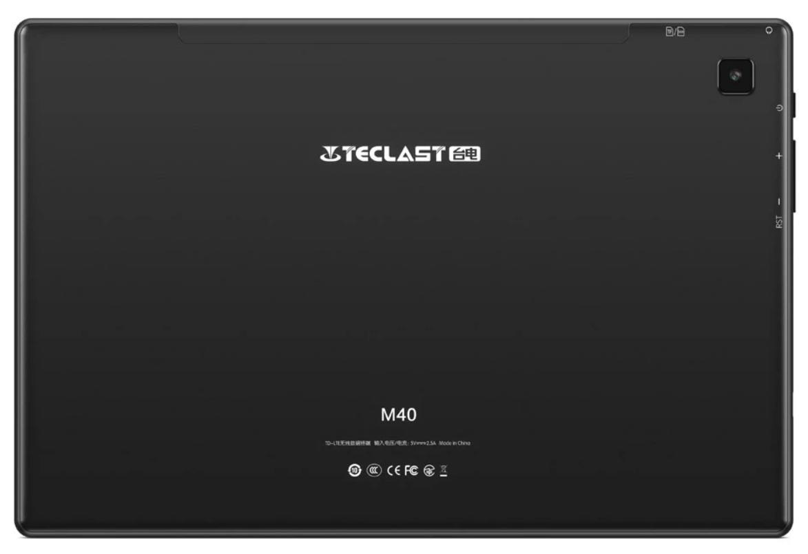 Teclast M40 - Diseño Posterior