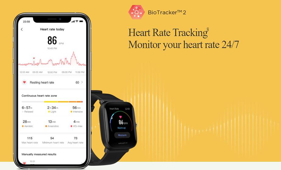 Amazfit Bip U - Monitor de ritmo cardíaco