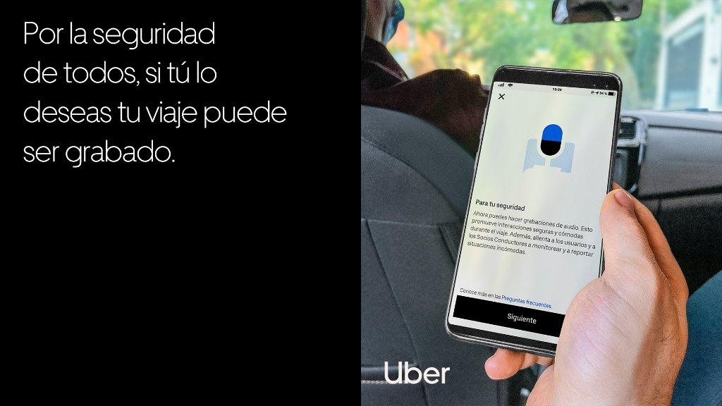 Así es cómo funciona la grabación de audio en Uber