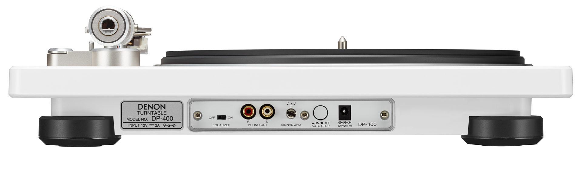 Denon DP-400 - Interfaces posteriores